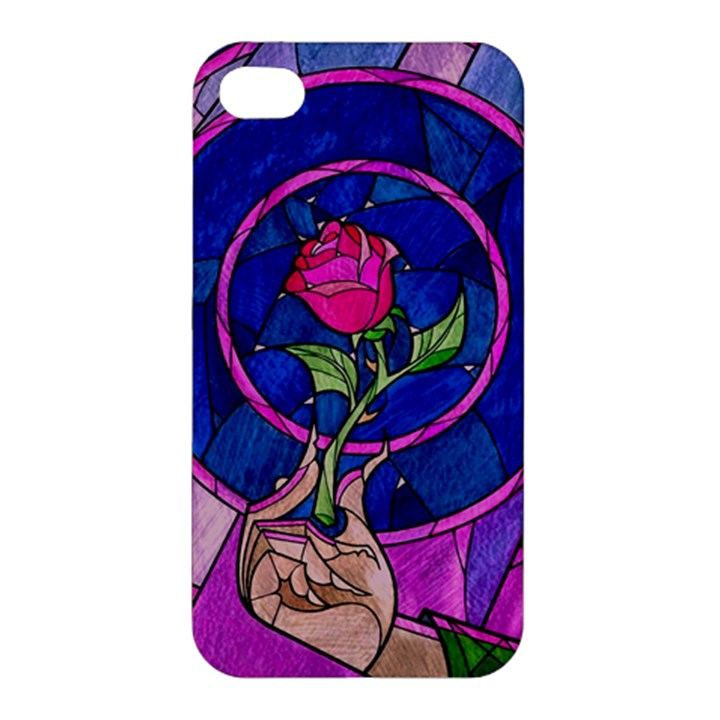 Enchanted Rose Stained Glass Apple iPhone 4/4S Hardshell Case