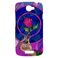 Enchanted Rose Stained Glass HTC One S Hardshell Case