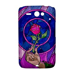 Enchanted Rose Stained Glass HTC ChaCha / HTC Status Hardshell Case