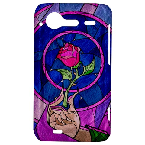 Enchanted Rose Stained Glass HTC Incredible S Hardshell Case