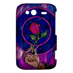 Enchanted Rose Stained Glass HTC Wildfire S A510e Hardshell Case