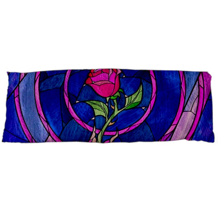 Enchanted Rose Stained Glass Body Pillow Case (Dakimakura)