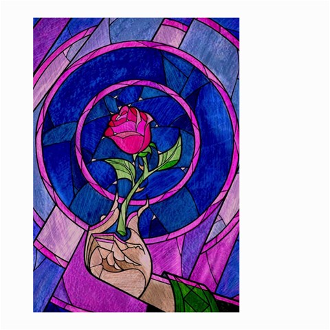 Enchanted Rose Stained Glass Large Garden Flag (Two Sides)