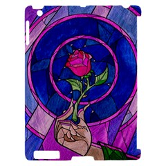 Enchanted Rose Stained Glass Apple iPad 2 Hardshell Case (Compatible with Smart Cover)