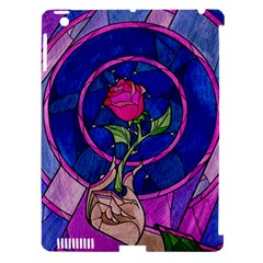 Enchanted Rose Stained Glass Apple Ipad 3/4 Hardshell Case (compatible With Smart Cover)