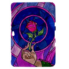 Enchanted Rose Stained Glass Samsung Galaxy Tab 8.9  P7300 Hardshell Case
