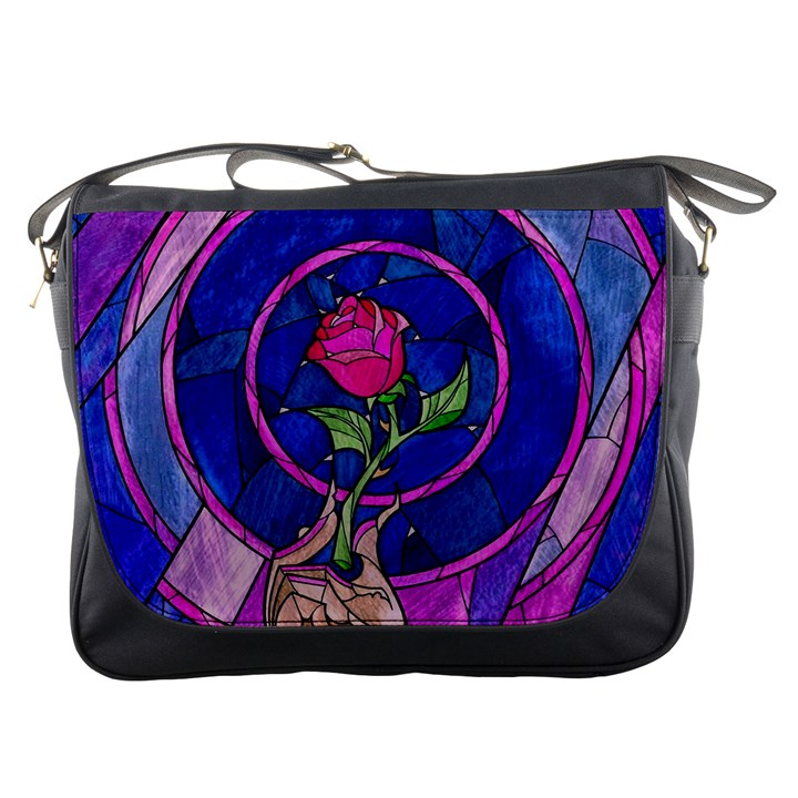 Enchanted Rose Stained Glass Messenger Bags