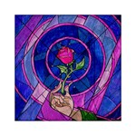 Enchanted Rose Stained Glass Acrylic Tangram Puzzle (6  x 6 ) Front