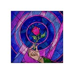 Enchanted Rose Stained Glass Acrylic Tangram Puzzle (4  x 4 ) Front