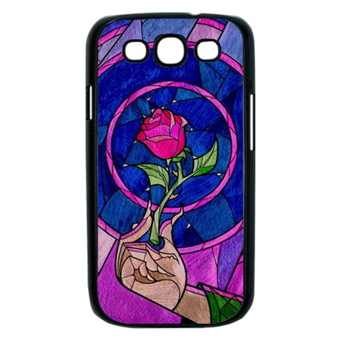 Enchanted Rose Stained Glass Samsung Galaxy S III Case (Black)
