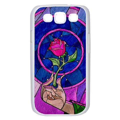 Enchanted Rose Stained Glass Samsung Galaxy S III Case (White)