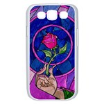 Enchanted Rose Stained Glass Samsung Galaxy S III Case (White) Front