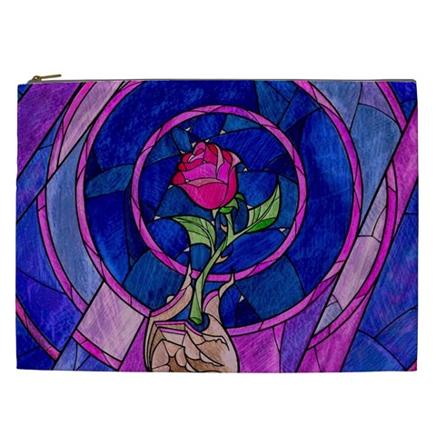Enchanted Rose Stained Glass Cosmetic Bag (XXL)