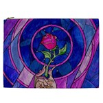 Enchanted Rose Stained Glass Cosmetic Bag (XXL)  Front