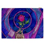 Enchanted Rose Stained Glass Cosmetic Bag (XXL)  Back