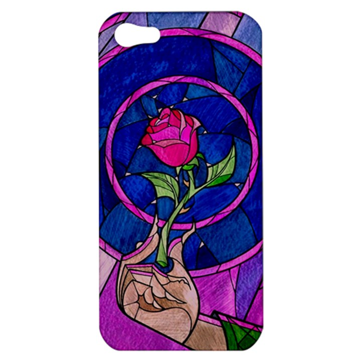 Enchanted Rose Stained Glass Apple iPhone 5 Hardshell Case