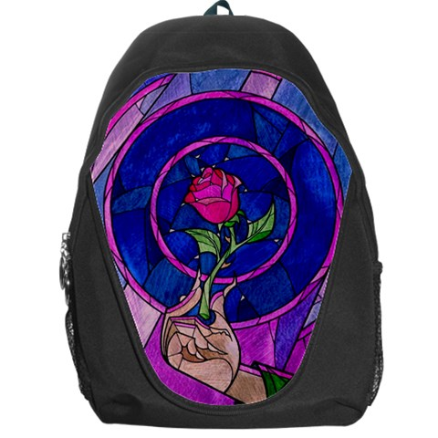 Enchanted Rose Stained Glass Backpack Bag