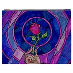 Enchanted Rose Stained Glass Cosmetic Bag (XXXL)  Front