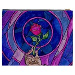 Enchanted Rose Stained Glass Cosmetic Bag (XXXL)  Back