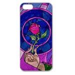 Enchanted Rose Stained Glass Apple Seamless iPhone 5 Case (Clear) Front