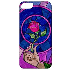 Enchanted Rose Stained Glass Apple iPhone 5 Classic Hardshell Case