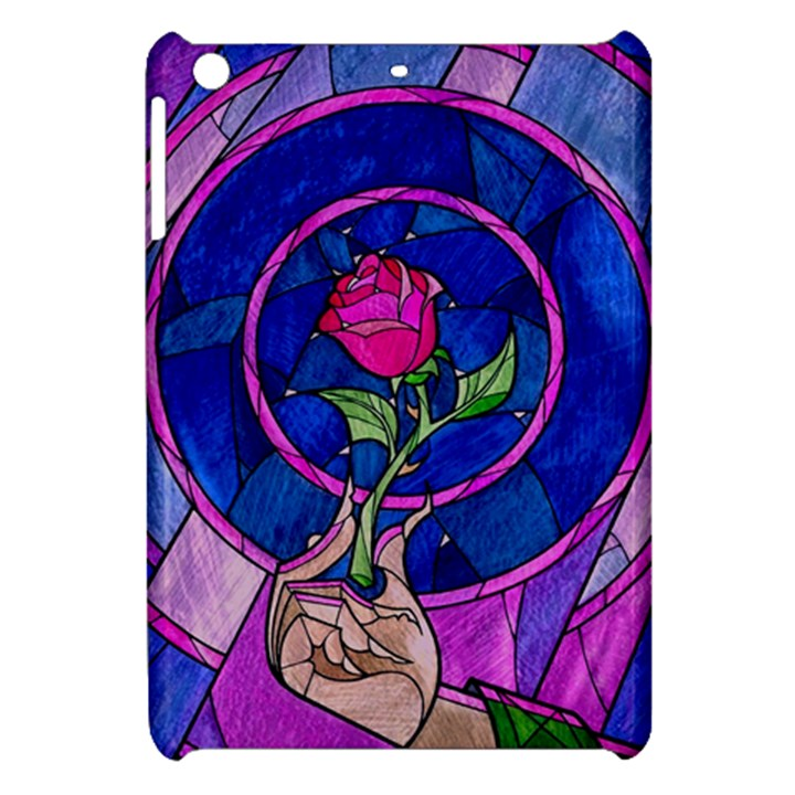 Enchanted Rose Stained Glass Apple iPad Mini Hardshell Case