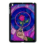 Enchanted Rose Stained Glass Apple iPad Mini Case (Black) Front