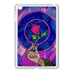 Enchanted Rose Stained Glass Apple iPad Mini Case (White) Front