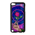Enchanted Rose Stained Glass Apple iPod Touch 5 Case (Black) Front