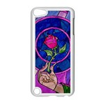 Enchanted Rose Stained Glass Apple iPod Touch 5 Case (White) Front