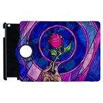 Enchanted Rose Stained Glass Apple iPad 2 Flip 360 Case Front