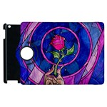 Enchanted Rose Stained Glass Apple iPad 3/4 Flip 360 Case Front