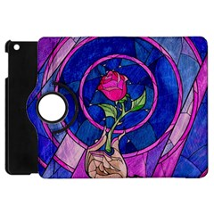 Enchanted Rose Stained Glass Apple Ipad Mini Flip 360 Case