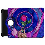 Enchanted Rose Stained Glass Kindle Fire HD Flip 360 Case Front