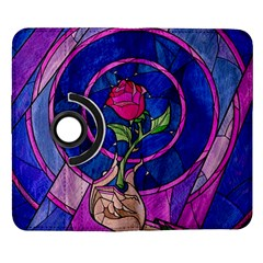 Enchanted Rose Stained Glass Samsung Galaxy Note II Flip 360 Case
