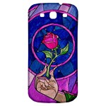Enchanted Rose Stained Glass Samsung Galaxy S3 S III Classic Hardshell Back Case Front