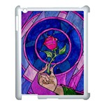 Enchanted Rose Stained Glass Apple iPad 3/4 Case (White) Front