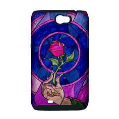 Enchanted Rose Stained Glass Samsung Galaxy Note 2 Hardshell Case (PC+Silicone)