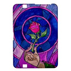 Enchanted Rose Stained Glass Kindle Fire Hd 8 9