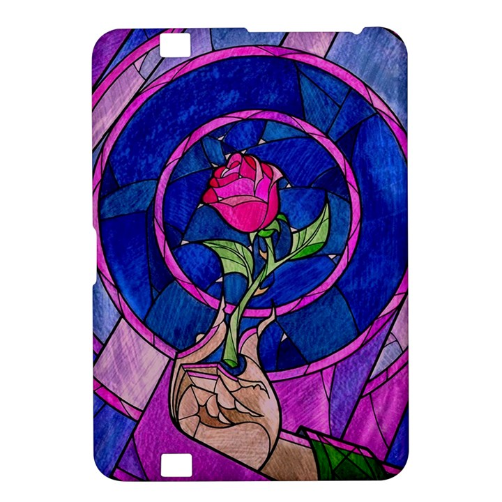 Enchanted Rose Stained Glass Kindle Fire HD 8.9