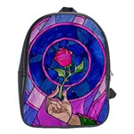 Enchanted Rose Stained Glass School Bags (XL)  Front