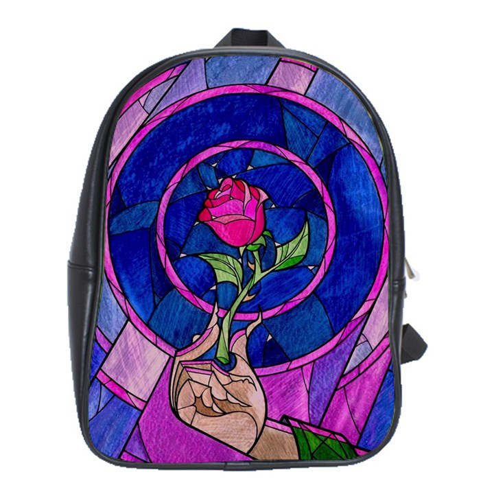 Enchanted Rose Stained Glass School Bags (XL)