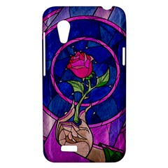 Enchanted Rose Stained Glass HTC Desire VT (T328T) Hardshell Case