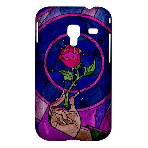 Enchanted Rose Stained Glass Samsung Galaxy Ace Plus S7500 Hardshell Case
