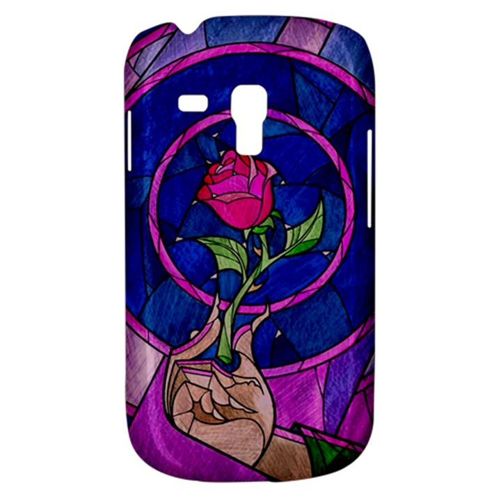 Enchanted Rose Stained Glass Samsung Galaxy S3 MINI I8190 Hardshell Case
