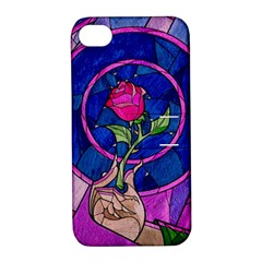 Enchanted Rose Stained Glass Apple iPhone 4/4S Hardshell Case with Stand