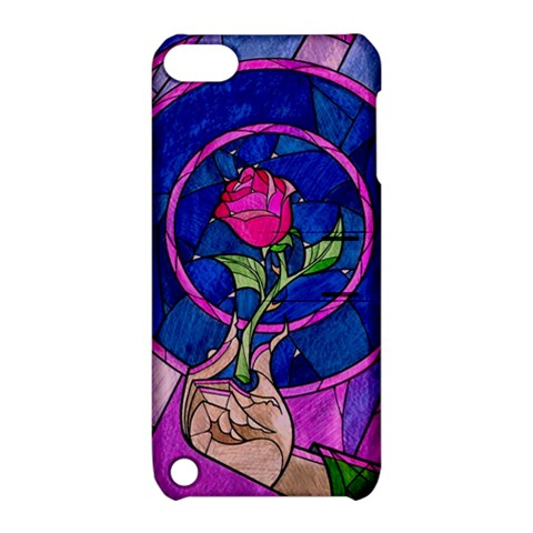 Enchanted Rose Stained Glass Apple iPod Touch 5 Hardshell Case with Stand
