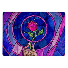 Enchanted Rose Stained Glass Samsung Galaxy Tab 10 1  P7500 Flip Case