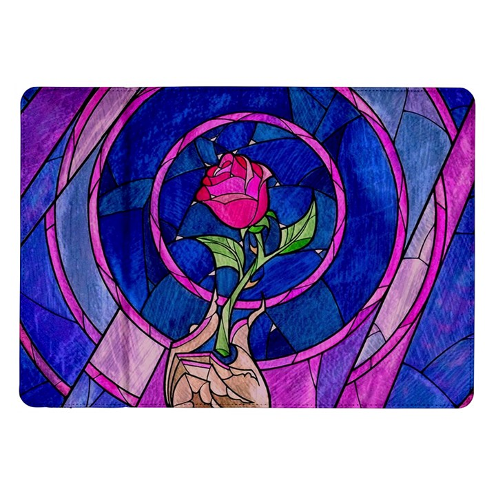 Enchanted Rose Stained Glass Samsung Galaxy Tab 10.1  P7500 Flip Case