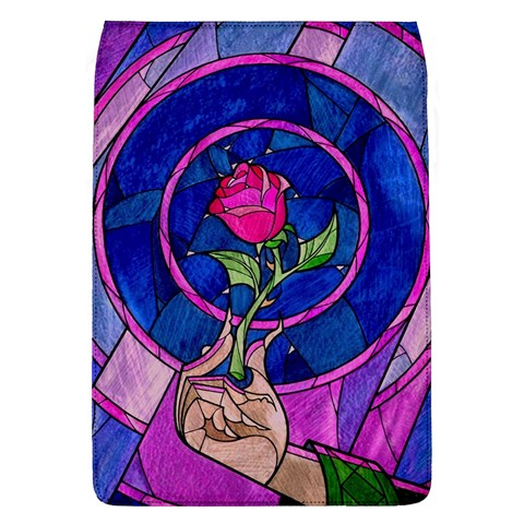 Enchanted Rose Stained Glass Flap Covers (L)